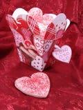 сердце печений коробки китайское вне засахаривает взятие Стоковое Изображение