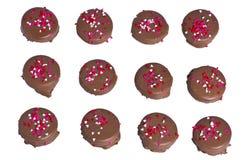 сердце печений шоколада брызгает 12 Стоковое Изображение