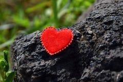сердце пляжа сиротливое стоковые изображения rf