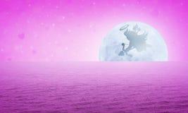 сердце подарка дня принципиальной схемы голубой коробки предпосылки схематическое изолировало valentines quill жизни письма ювели Стоковое Изображение RF