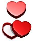 сердце подарка коробки Стоковое Изображение