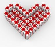 сердце подарка формы коробок Стоковое Изображение RF