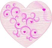 сердце подняло продевающ нитку Стоковое фото RF