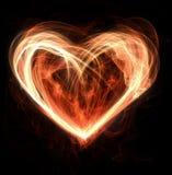 сердце пожара Стоковые Фотографии RF