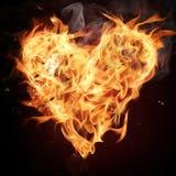 сердце пожара стоковая фотография rf