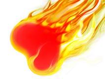 сердце пожара Стоковое фото RF