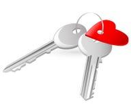 сердце пользуется ключом красная бирка 2 Иллюстрация вектора