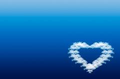 сердце предпосылки красивейшее голубое Стоковые Изображения RF