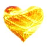 сердце предпосылки пламенистое Стоковые Фотографии RF