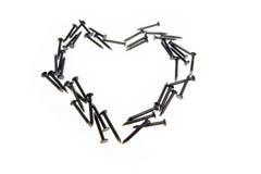 сердце предпосылки пригвождает белизну Стоковое Изображение RF