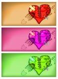 сердце предпосылки сломленное Стоковая Фотография RF