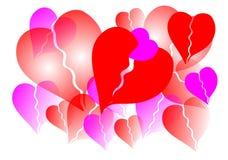 сердце предпосылки Стоковое фото RF