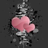 сердце предпосылки grungy Стоковые Изображения RF