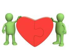 сердце разделяет головоломку иллюстрация вектора