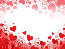 сердце рамки горизонтальное иллюстрация вектора