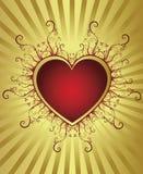 сердце рамки золотистое Стоковое фото RF