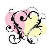 сердце рамки flourish Стоковая Фотография RF