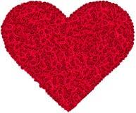 Сердце розы красного цвета стоковые фотографии rf