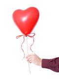 сердце руки воздушного шара стоковая фотография rf