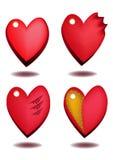 Сердце сбываний ярлыка Стоковое Изображение