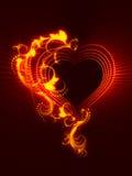 сердце сверкная Стоковые Фотографии RF