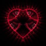 сердце светя Стоковая Фотография