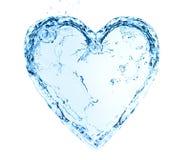 сердце сделало воду Стоковые Изображения RF