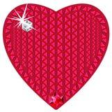 сердце сделало драгоценные красные камни Стоковые Изображения RF
