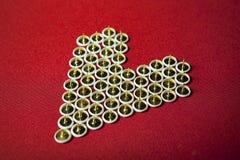 сердце сделало thumbtack Стоковое Изображение RF