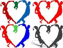 сердце семьи Стоковые Изображения