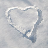 Сердце снежка стоковые изображения