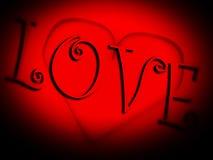 Сердце стекла   Стоковая Фотография RF