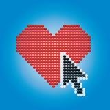 сердце стрелки Стоковое Изображение