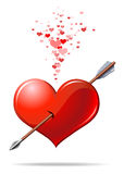 сердце стрелки Стоковые Фото