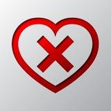Сердце с крестом отрезано от бумаги также вектор иллюстрации притяжки corel бесплатная иллюстрация