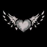 Сердце с крылами иллюстрация штока