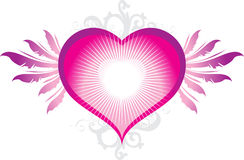 Сердце с крылами Стоковое Фото