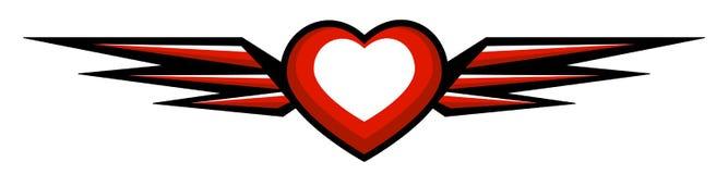 Сердце с крылами Стоковые Изображения RF