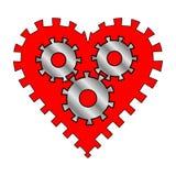 Сердце с шестернями иллюстрация штока