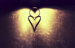 Сердце тени стоковые фотографии rf