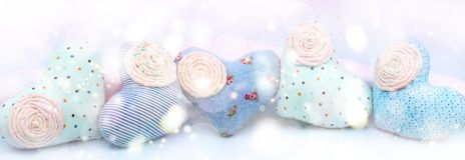 Сердце ткани знамени декоративное handmade Стоковая Фотография RF