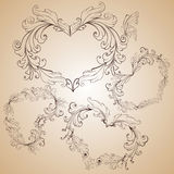 сердце формирует сбор винограда Стоковое Изображение