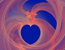 сердце фрактали стоковые фотографии rf