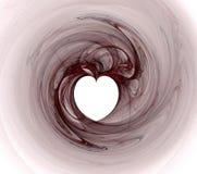 сердце фрактали Стоковое Изображение RF