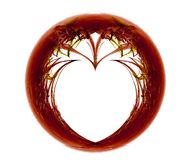 сердце фрактали иллюстрация штока