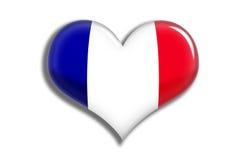 сердце Франции глянцеватое Стоковые Фото