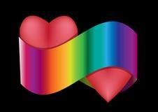 Сердце цветастое Стоковое Изображение