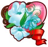 сердце цветка букета Стоковые Изображения