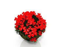 сердце цветка шарика иллюстрация штока