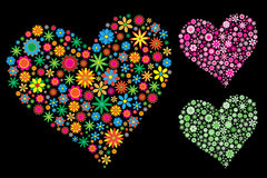 сердце цветка иллюстрация вектора